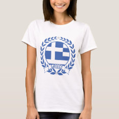 Greece Wreath T-shirt at Zazzle