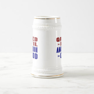 Greed & Ambition Beer Stein