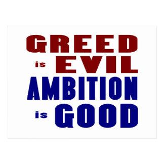 Greed & Ambition Postcard