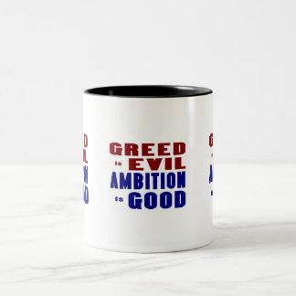 Greed & Ambition Two-Tone Coffee Mug