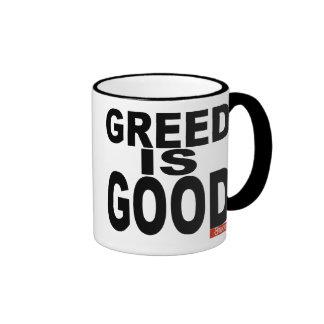 Greed is Good Ringer Coffee Mug