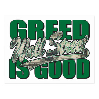 Greed-Is-Good Postcard