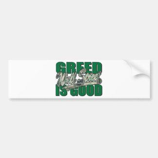 Greed Is Good/Wall Street Bumper Sticker