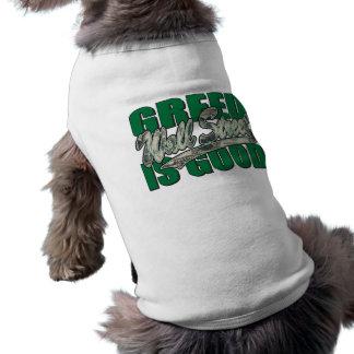 Greed Is Good/Wall Street Doggie T-shirt