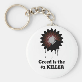 GREED IS THE NUMBER 1 KILLER KEY CHAIN