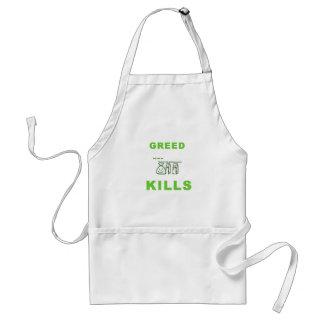 Greed Kills Apron