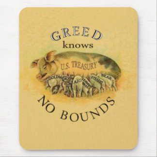 Greed pigs mouse pad