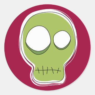 Greed Skull Sticker/Red Background