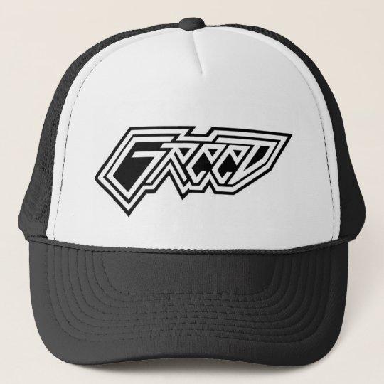 greed trucker hat