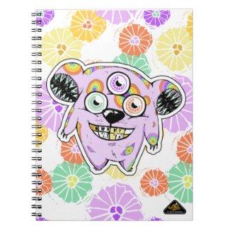 """Greedy 3-Eyed Bear"" Monster Notebook"