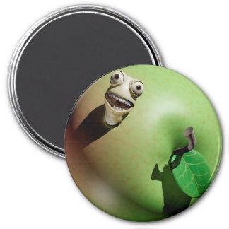 Greedy Apple Grub 3 Inch Round Magnet