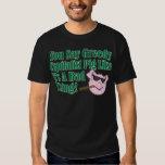 Greedy Capitalist Pig T Shirt