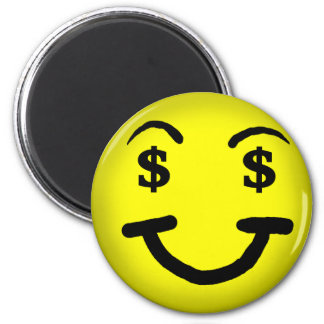 Greedy face Smiley  Magnet