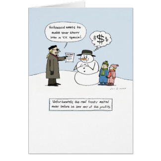 Greedy Frosty - Humorous Christmas Stationery Note Card