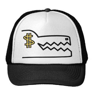 greedy greedy gator trucker hat