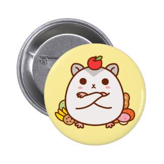 Greedy Hamster 2 Inch Round Button