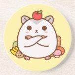 Greedy Hamster Beverage Coaster