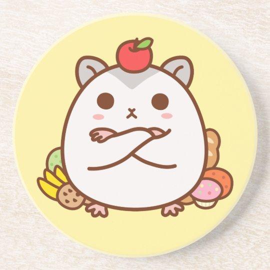 Greedy Hamster Drink Coaster