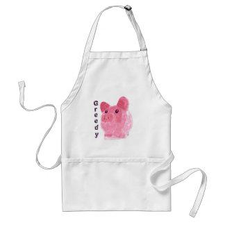 greedy pig adult apron
