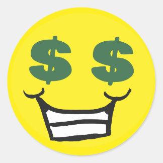 Greedy Smiley 2 Sticker