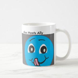 Greedy Smiley Alex And Ally. Coffee Mug