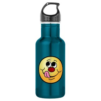 Greedy Smiley Face Grumpey 18oz Water Bottle