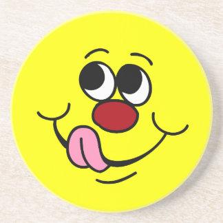 Greedy Smiley Face Grumpey Coaster