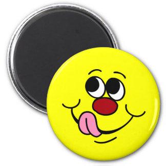 Greedy Smiley Face Grumpey Magnet