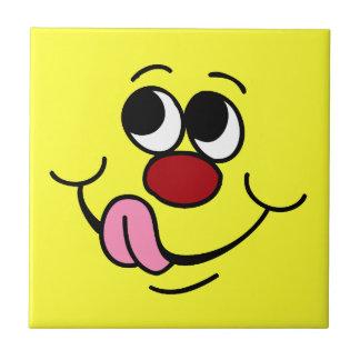 Greedy Smiley Face Grumpey Tile