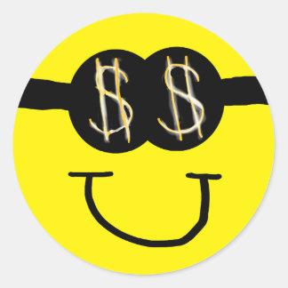 Greedy Smiley Face Sticker