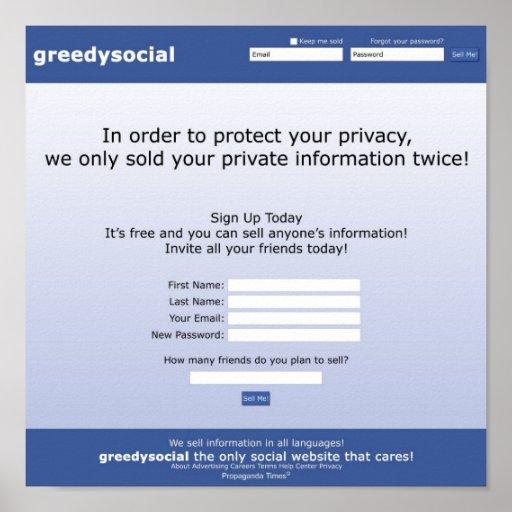 Greedy Social Poster