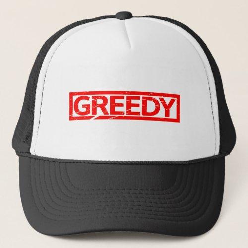 Greedy Stamp Trucker Hat
