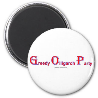 GreedyOiligarchParty 2 Inch Round Magnet