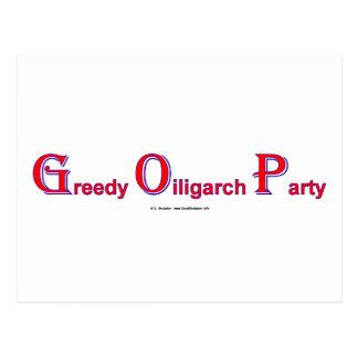 GreedyOiligarchParty Postales