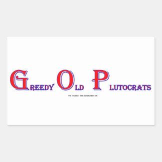 GreedyOldPlutocrats Rectangular Sticker