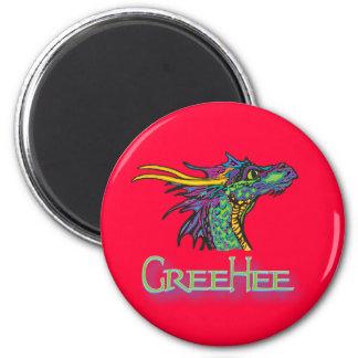 GreeHee - big thinking dragon 2 Inch Round Magnet
