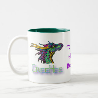 GreeHee The Big Hearted, Deep Thinking Dragon Two-Tone Coffee Mug