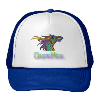 GreeHee The Deep Thinking Dragon Trucker Hat