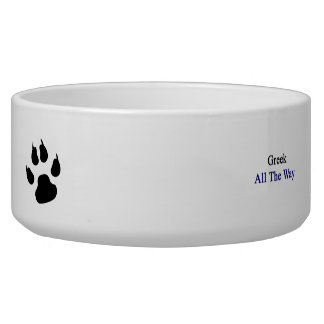 Greek All The Way Pet Water Bowls