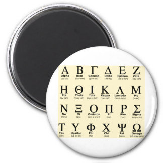 greek alphabet gifts magnet