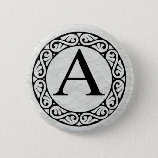 Greek Alphabet Letter Alpha Button