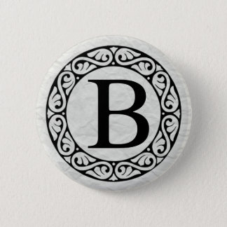 Greek Alphabet Letter Beta Button
