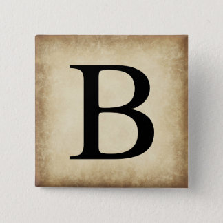 Greek Alphabet Letter Beta Pinback Button