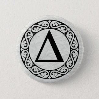 Greek Alphabet Letter Delta Button