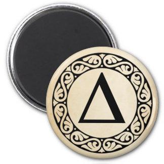 Greek Alphabet Letter Delta Magnet