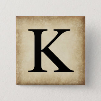 Greek Alphabet Letter Kappa Button