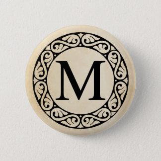 Greek Alphabet Letter Mu Pinback Button