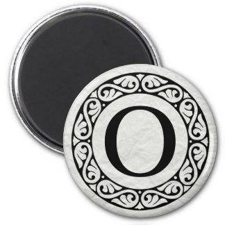 Greek Alphabet Letter Omicron 2 Inch Round Magnet