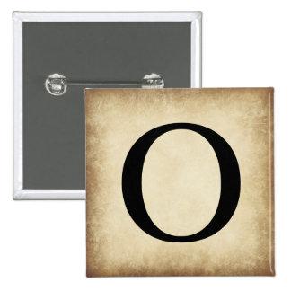 Greek Alphabet Letter Omicron Button