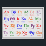 "Greek Alphabet Poster--Colorful upper &amp; lower case Poster<br><div class=""desc"">Designed with a science or math classroom in mind (to help students with the names for science &amp; math symbols), this poster may be just as useful in a fraternity or sorority house. Designed with bold colors to help with quick identification of letters &amp; names; this poster provides both upper...</div>"